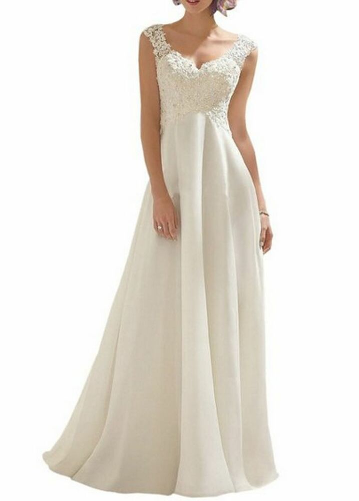 dresses a line pearls sequined appliques bridal gowns size 2 16 ebay