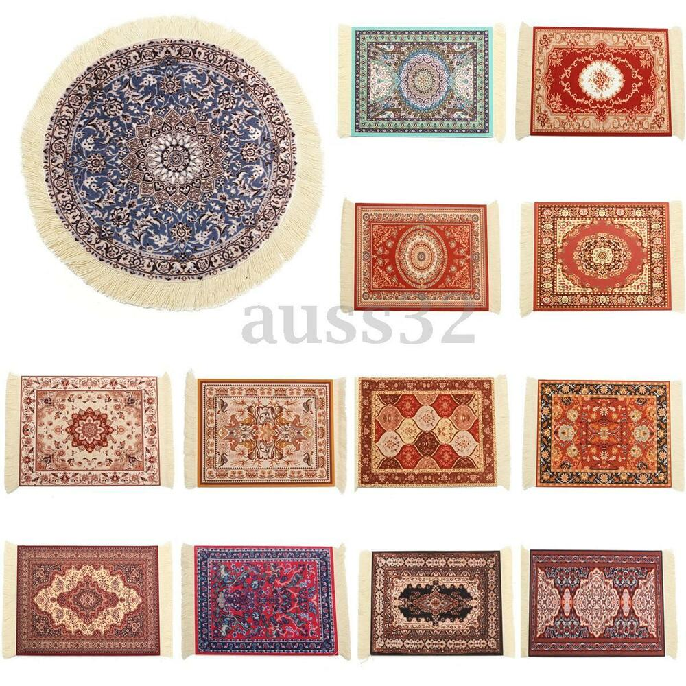 Persian Rug House: 13 Types Round/Square Persian Mini Rug Woven Rug Mouse Pad