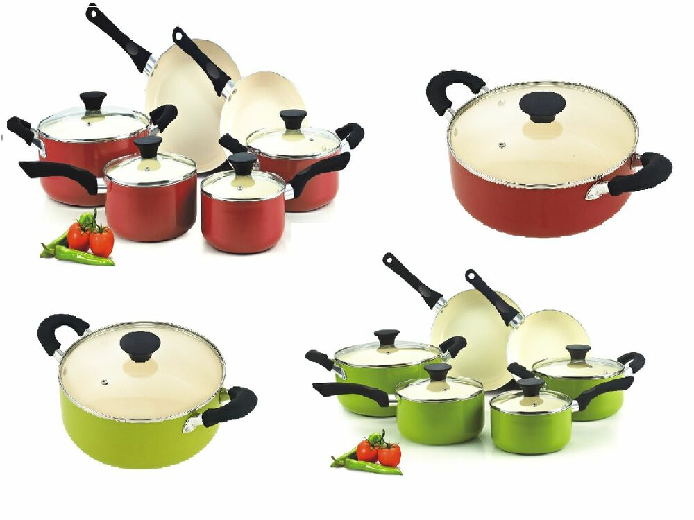Ceramic Cookware Set Pots And Pans Non Stick Coating 10