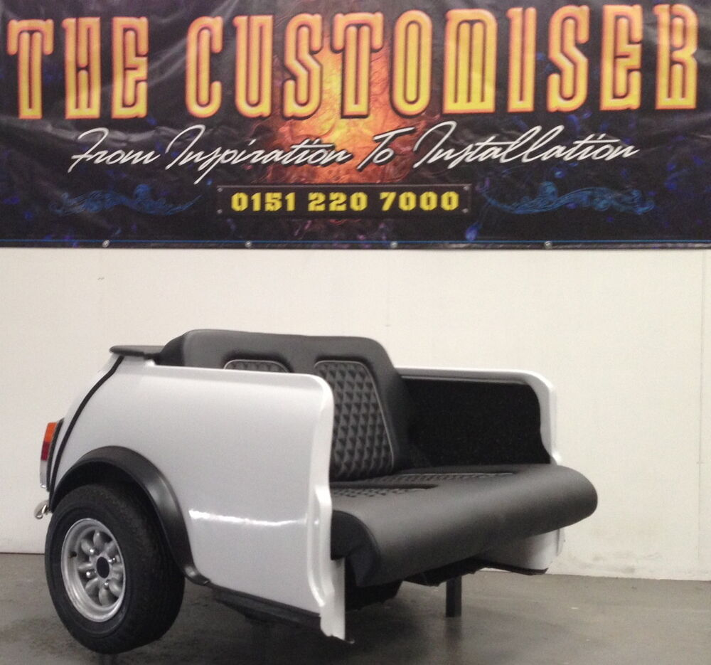 classic white mini cooper sofa amazing it 39 s a cooper couch home cinema chair ebay. Black Bedroom Furniture Sets. Home Design Ideas