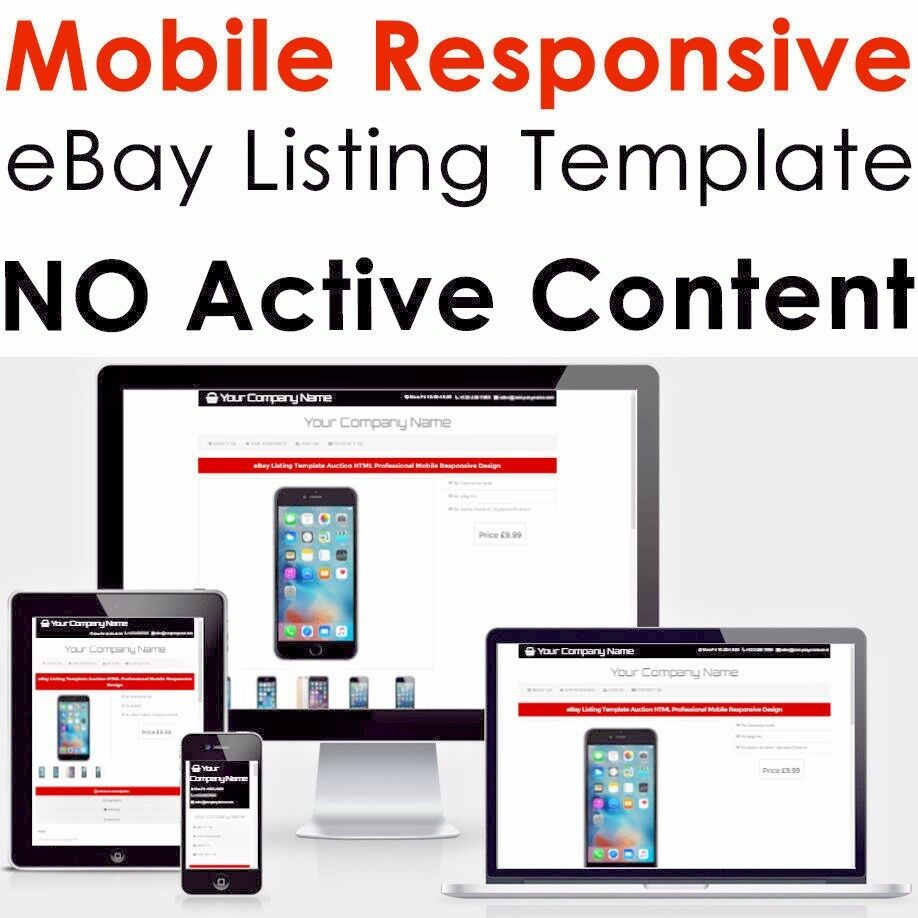 ebay listing template html professional mobile responsive design 2017 ebay. Black Bedroom Furniture Sets. Home Design Ideas