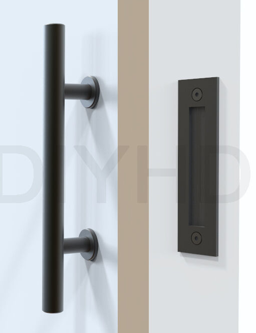 Stainless Steel Black Sliding Barn Door Handle Wood Door