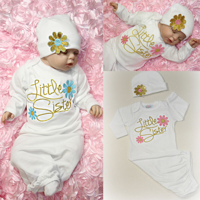 cute little sister baby girl clothes newborn take home