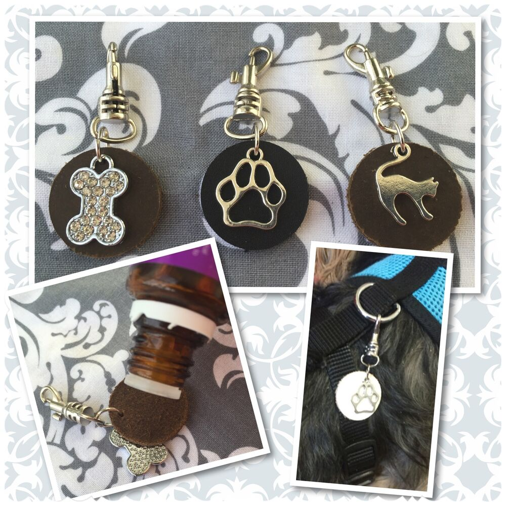 leather dog cat pet tag essential oil diffuser aromatherapy oils diffuse brown ebay. Black Bedroom Furniture Sets. Home Design Ideas