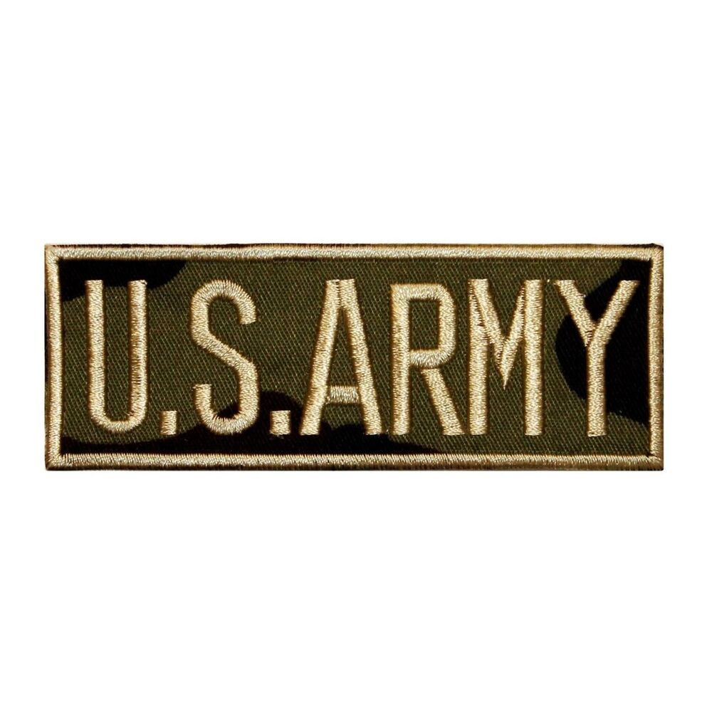Id name tag us army patch uniform embroidered iron on