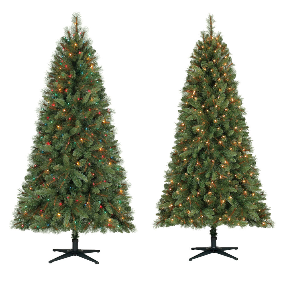 6 5 Ft Crestwood Pine Pvc Christmas Tree With Clear Or
