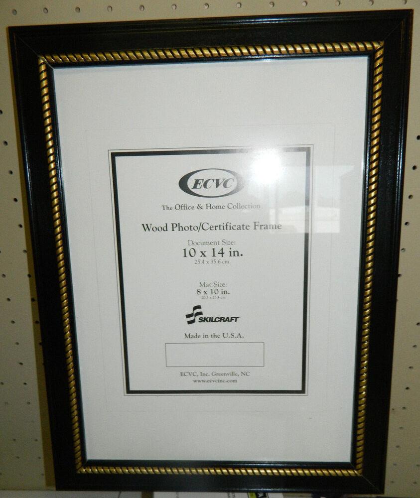12 - Wooden Picture frames. BLACK with gold trim. USA made 10\
