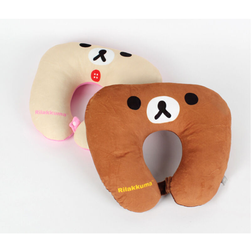 Cute Neck Pillows For Travel : Rilakkuma Neck Pillow Travel Cute Doll U Cushion Air Flight Head Rest Sleep Aid eBay