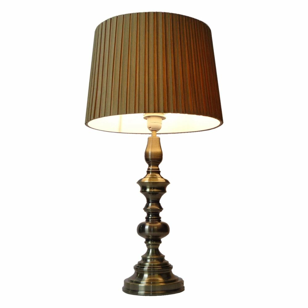 Touch lamp antique brass classic table decoration lamp for Antique decoration