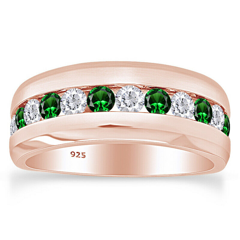 holiday sale 8mm wedding band mens ring green amp white