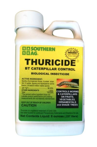Thuricide caterpillar and worm control - 8 oz