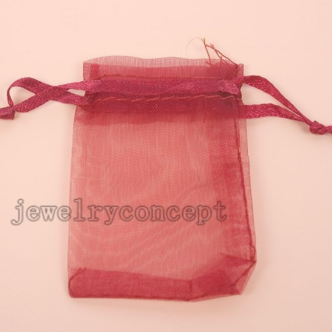 Red Wedding Gift Bags : ... Claret Red Organza Wedding Favors Pouch Boutique Gift Bags J eBay