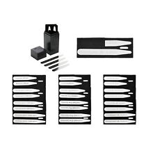8pcs Silvery Metal Collar Stays Stiffeners For Gentlemen's Shirt in Acrylic Box