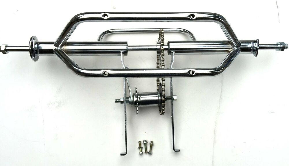 Bicycle Axle Parts : Bicycle bike to tricycle trike conversion kit chrome ebay