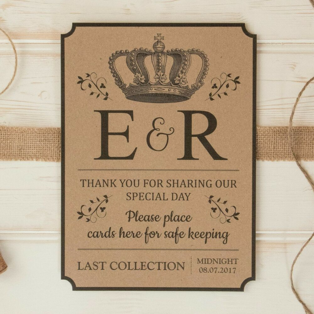 Personalised WEDDING POST BOX Card SIGN & Thank You Sign