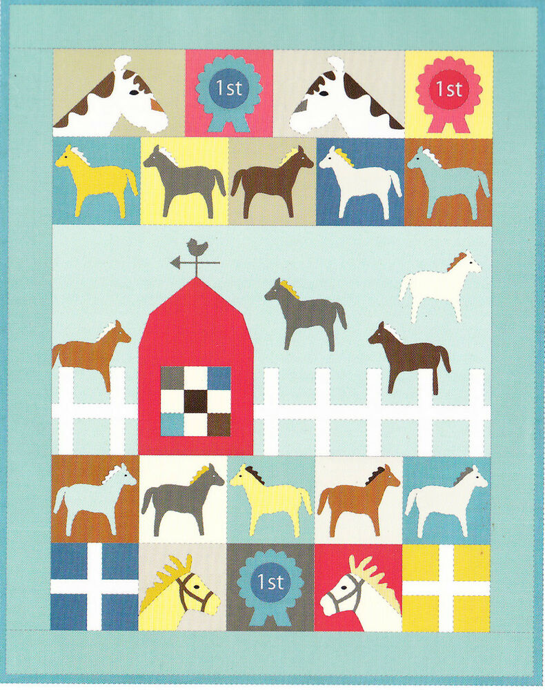 Horsey Quilt - fun applique & pieced kids quilt PATTERN ...