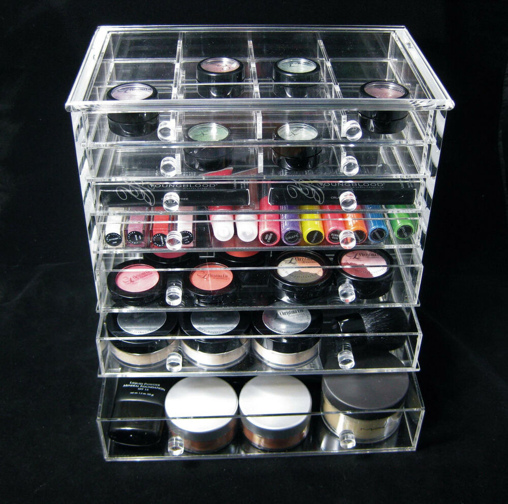 acrylic cosmetic organizer 7 drawer vanity beauty storage. Black Bedroom Furniture Sets. Home Design Ideas
