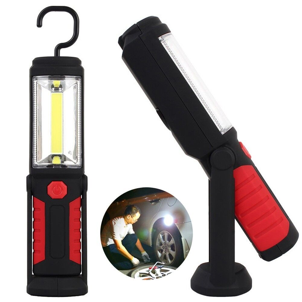 30 Led Rechargeable Inspection Lamp Light Torch Cordless: 8+1 Inspection Lamp LED Torch 2 Base Magnetic Flexible