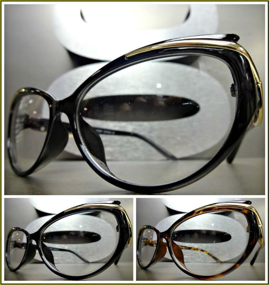 Small Frame Cateye Glasses : Women CLASSIC VINTAGE 50s RETRO CAT EYE Style Clear Lens ...