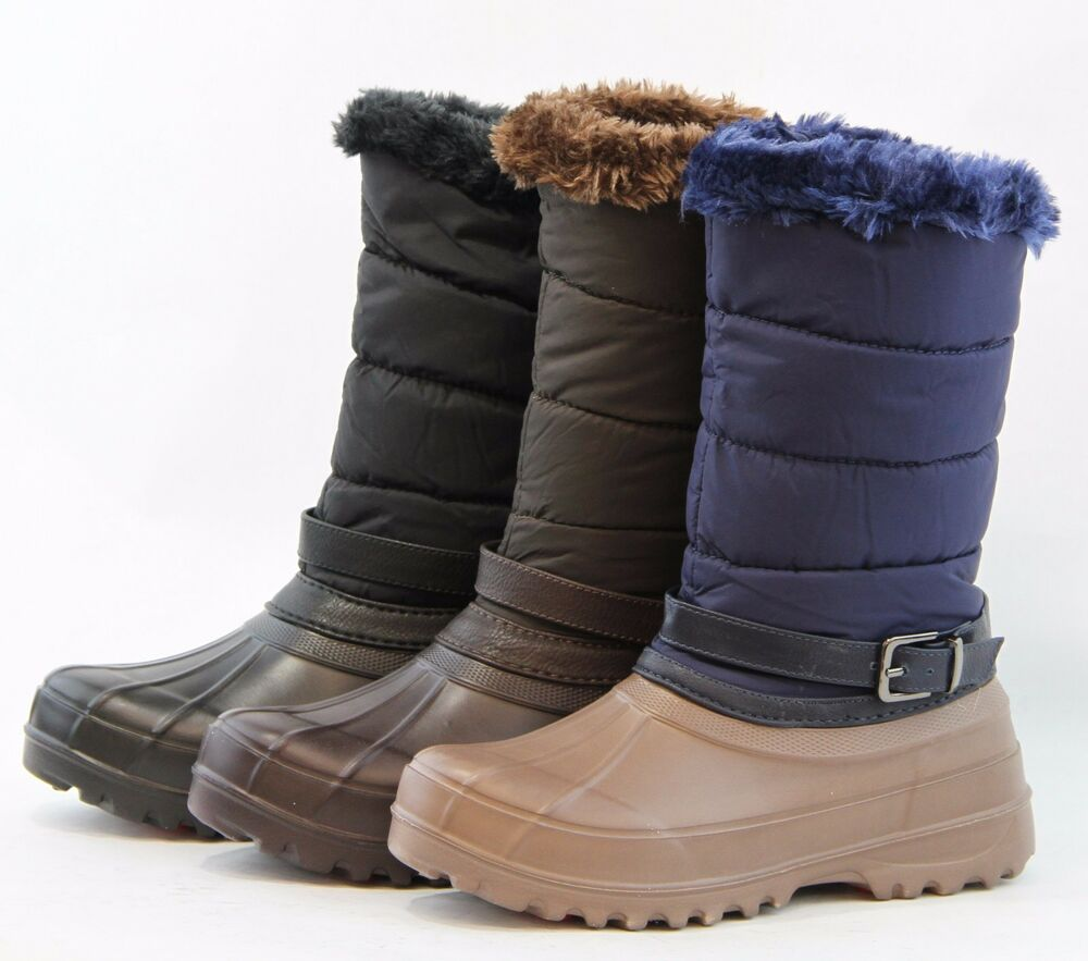 snow boots mud rubber rainboots warm winter shoes