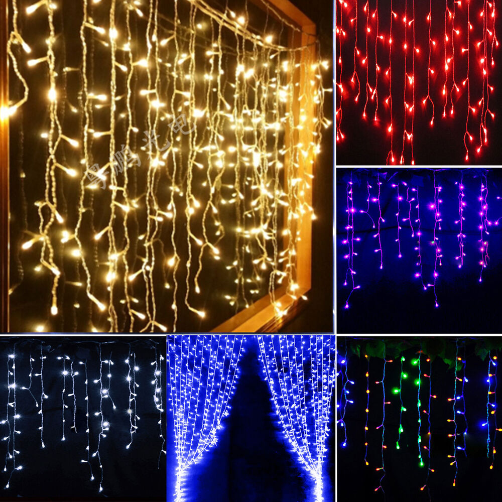 Drape String Lights Ceiling : Icicle Hanging Snowing Curtain Lights Window Fairy Xmas LED String Wedding New eBay