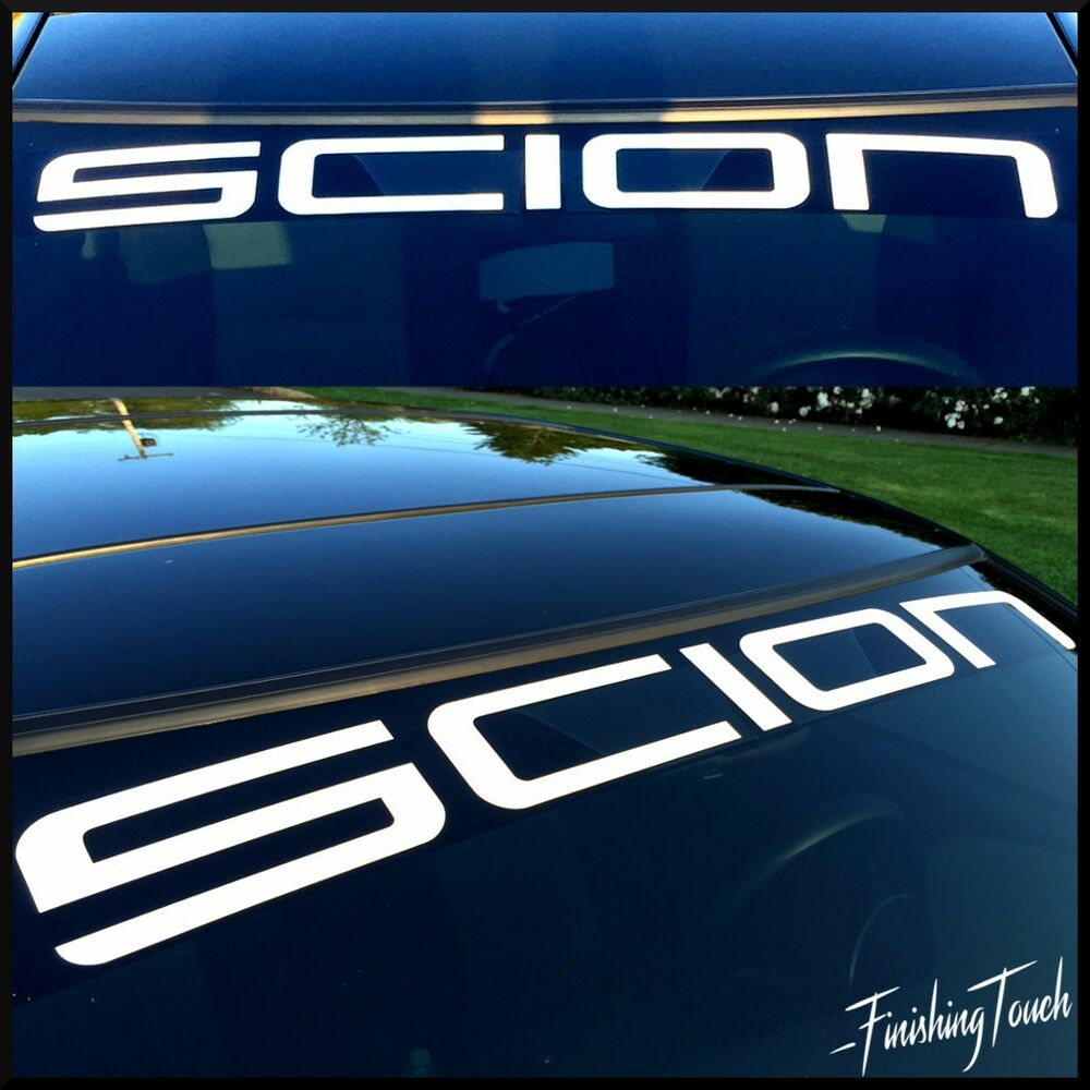 scion vinyl windshield decal sticker custom graphic sun visor toyota tc xb fr s ebay. Black Bedroom Furniture Sets. Home Design Ideas