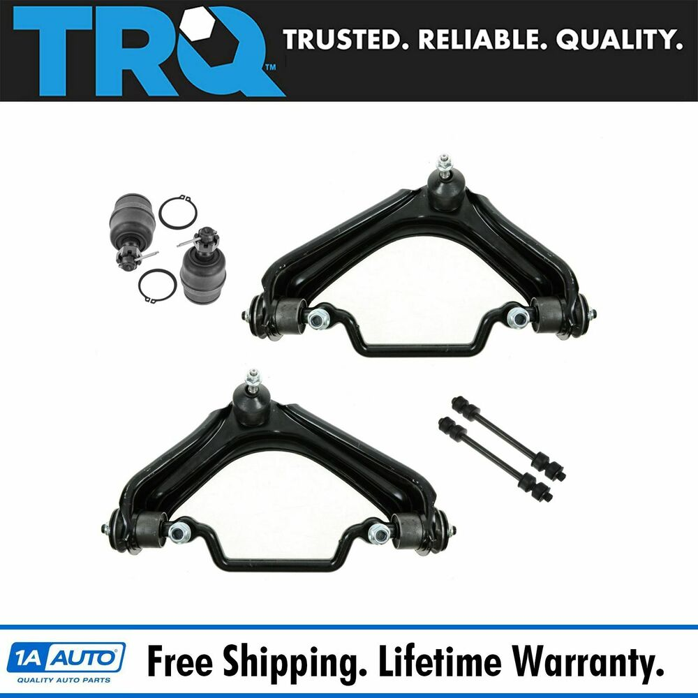 8 Piece Suspension Control Arm Tie Rod Kit Front For 92 96: 6 Piece Kit Upper Control Arm Lower Ball Joint Sway Bar