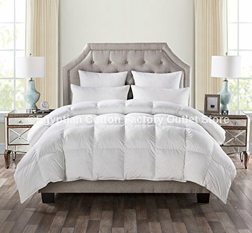 california king goose down comforter size white blanket luxury thread bedroom ebay. Black Bedroom Furniture Sets. Home Design Ideas