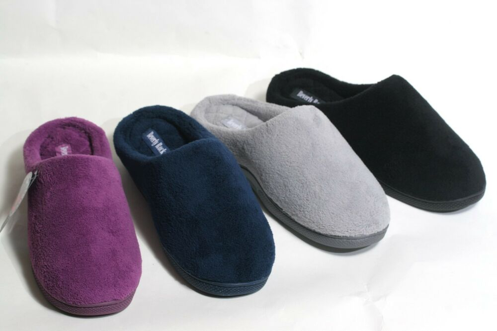 new women 39 s warm cozy terry memory foam bedroom slippers clogs house shoe 39 s ebay. Black Bedroom Furniture Sets. Home Design Ideas