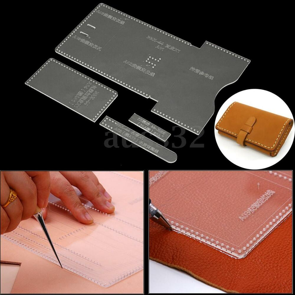 DIY Clear Acrylic Leather Template Tool Set for Wallet ...