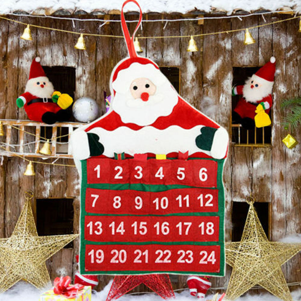 Diy santa claus christmas advent calendar countdown xmas for Ebay decorations home
