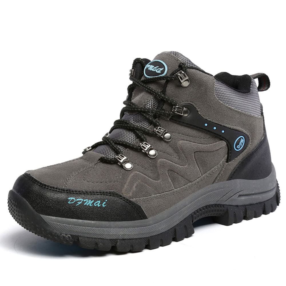 mens new big size hiking outdoor boots high top