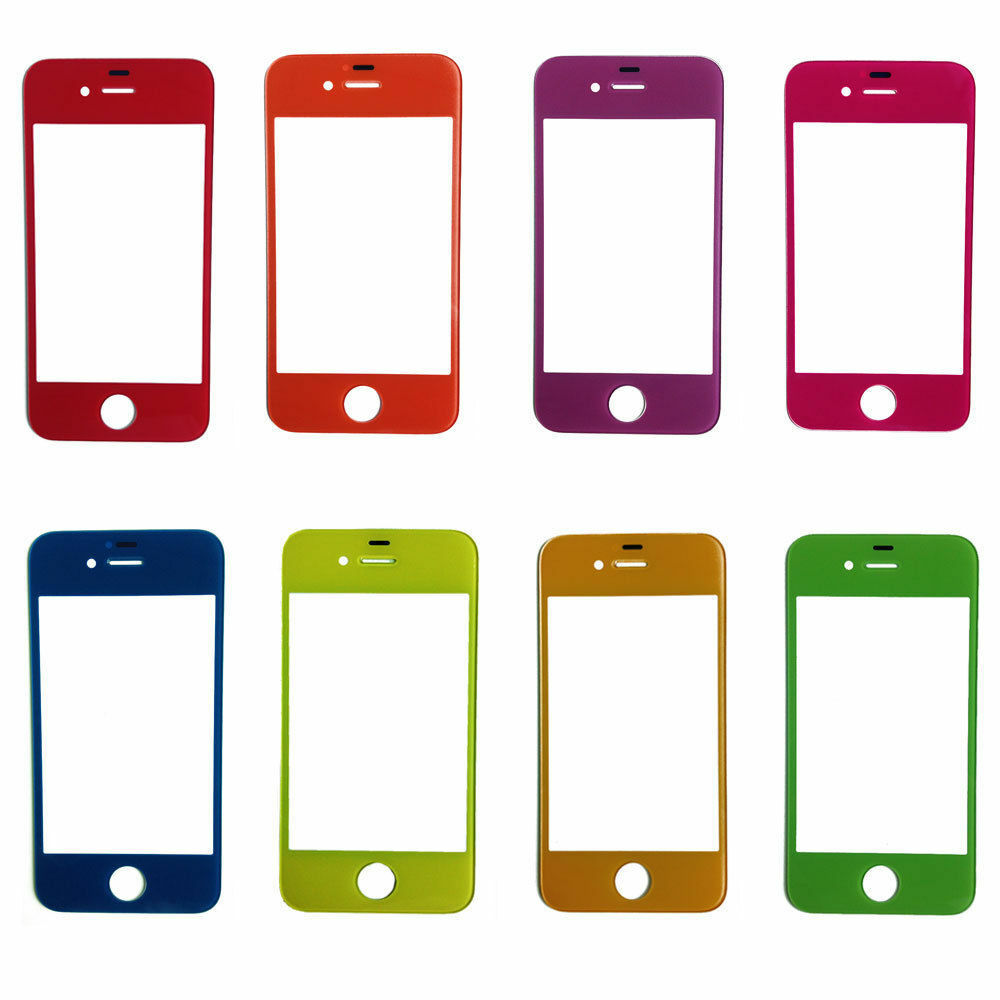 iphone 4 glass replacement multi colors front outer screen glass lens cover 5600