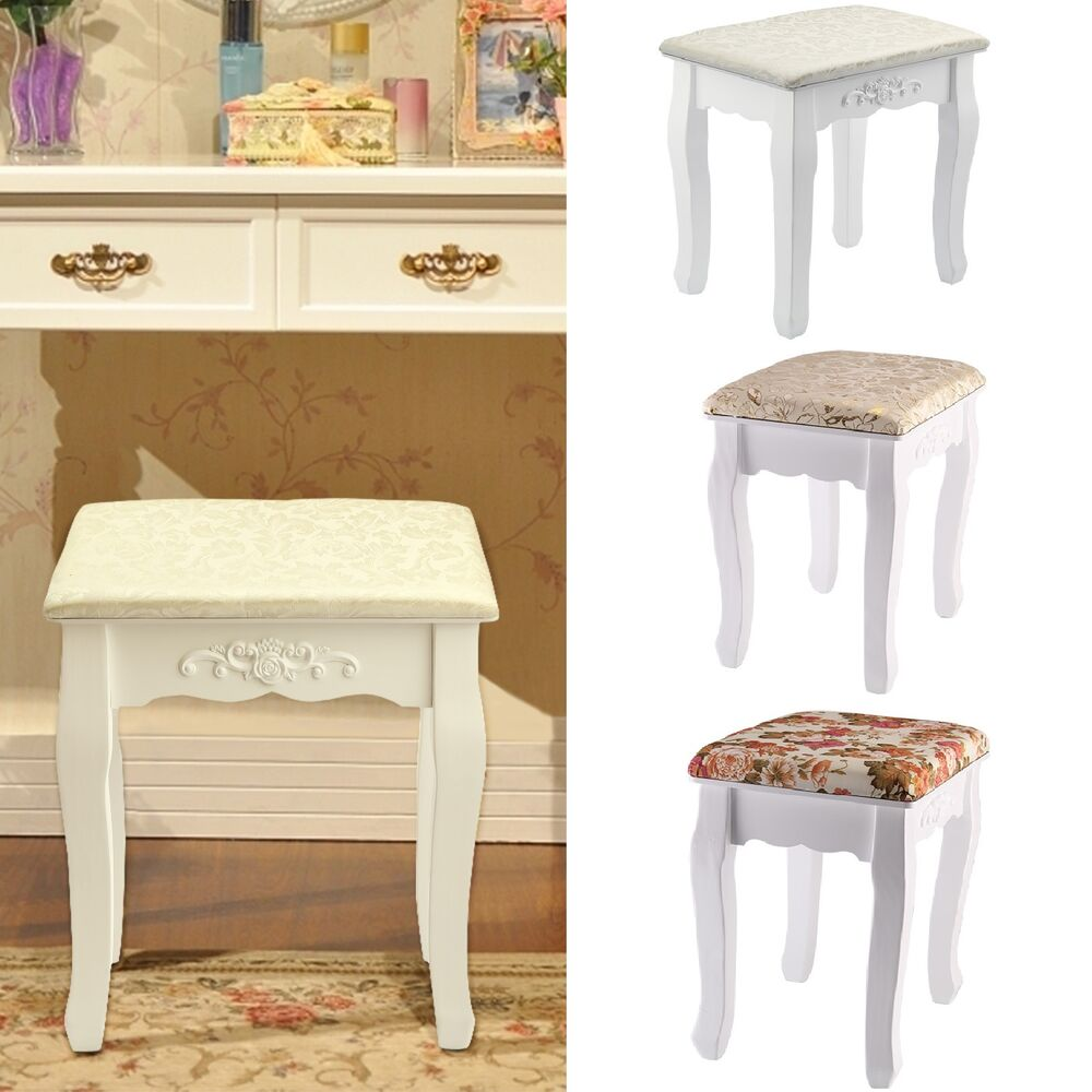 Vintage dressing table - Vintage Dressing Table Stool Soft Padded Piano Chair Rest Makeup Seat Baroque