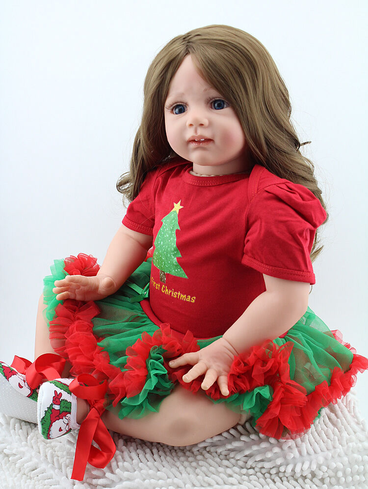 Reborn Toddler Baby Dolls 24'' Soft Vinyl Silicone Long ...