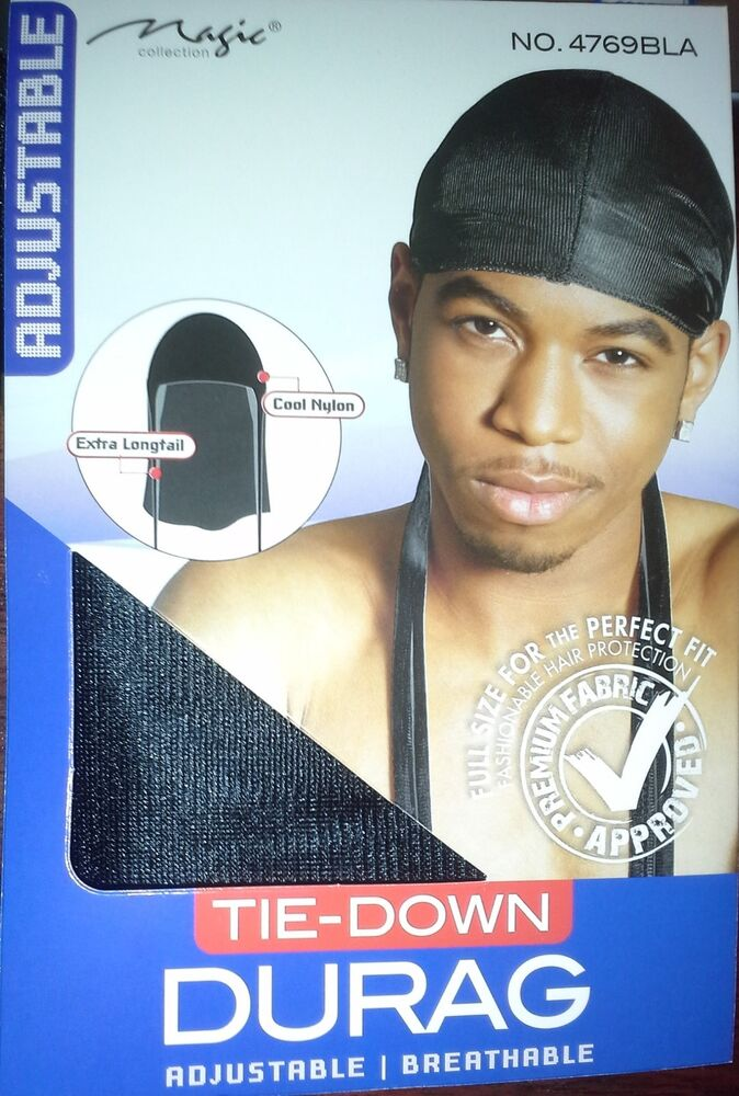 Black Skull Cap Hat Nylon Tie Down Tail Wave Cap Sport Hip