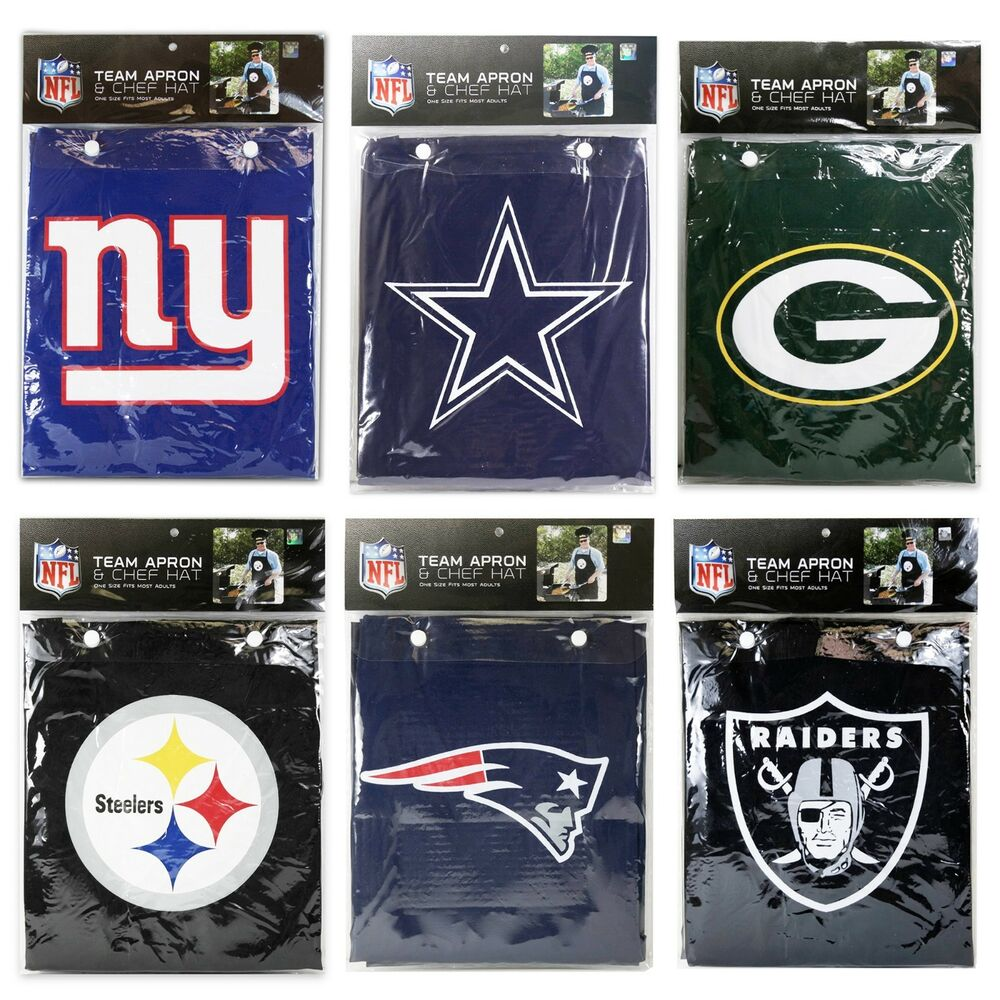 ae17da97806 Details about NFL Licensed Apron Hat Set   BARBECUE TAILGATING GEAR