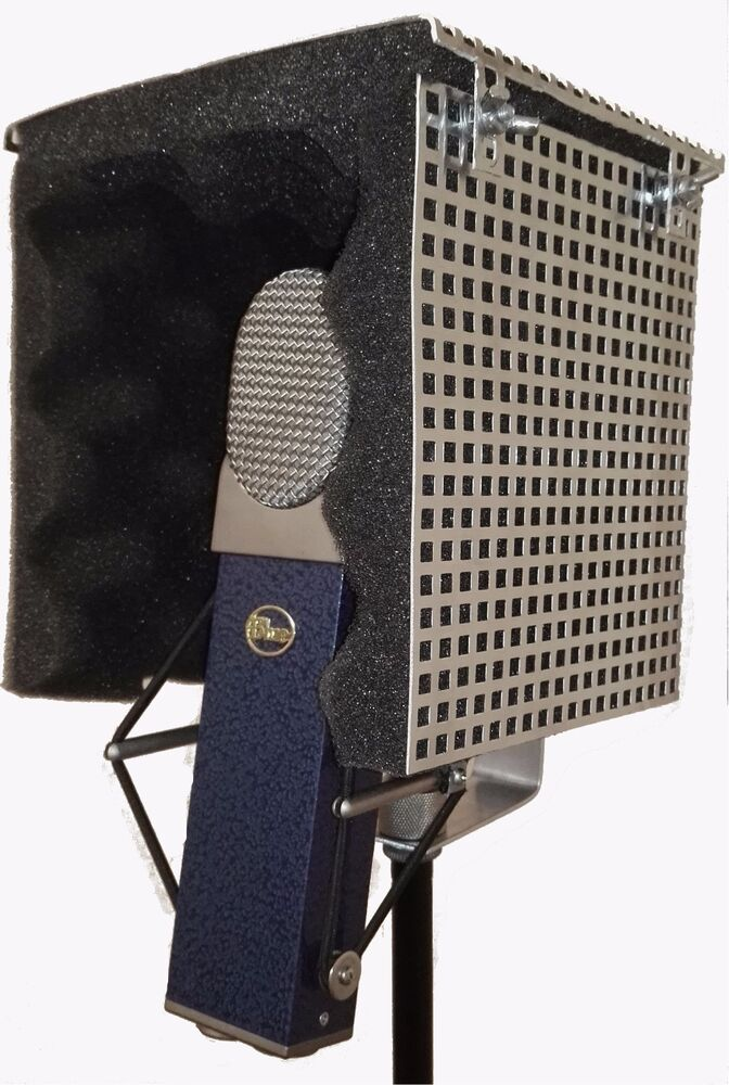 compact studio microphone isolation shield with sound dampening foam vocal box ebay. Black Bedroom Furniture Sets. Home Design Ideas