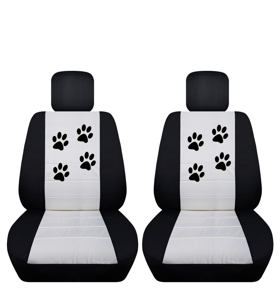 fits 2015 to 2016 ford focus velvet paw print seat covers airbag friendly ebay. Black Bedroom Furniture Sets. Home Design Ideas