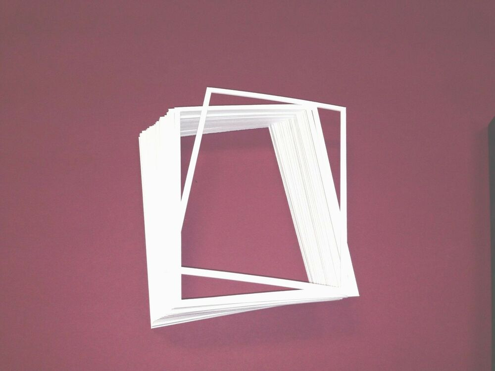 new 15 8 x 10 spacers for picture frames acid free mats white cr framing ebay. Black Bedroom Furniture Sets. Home Design Ideas