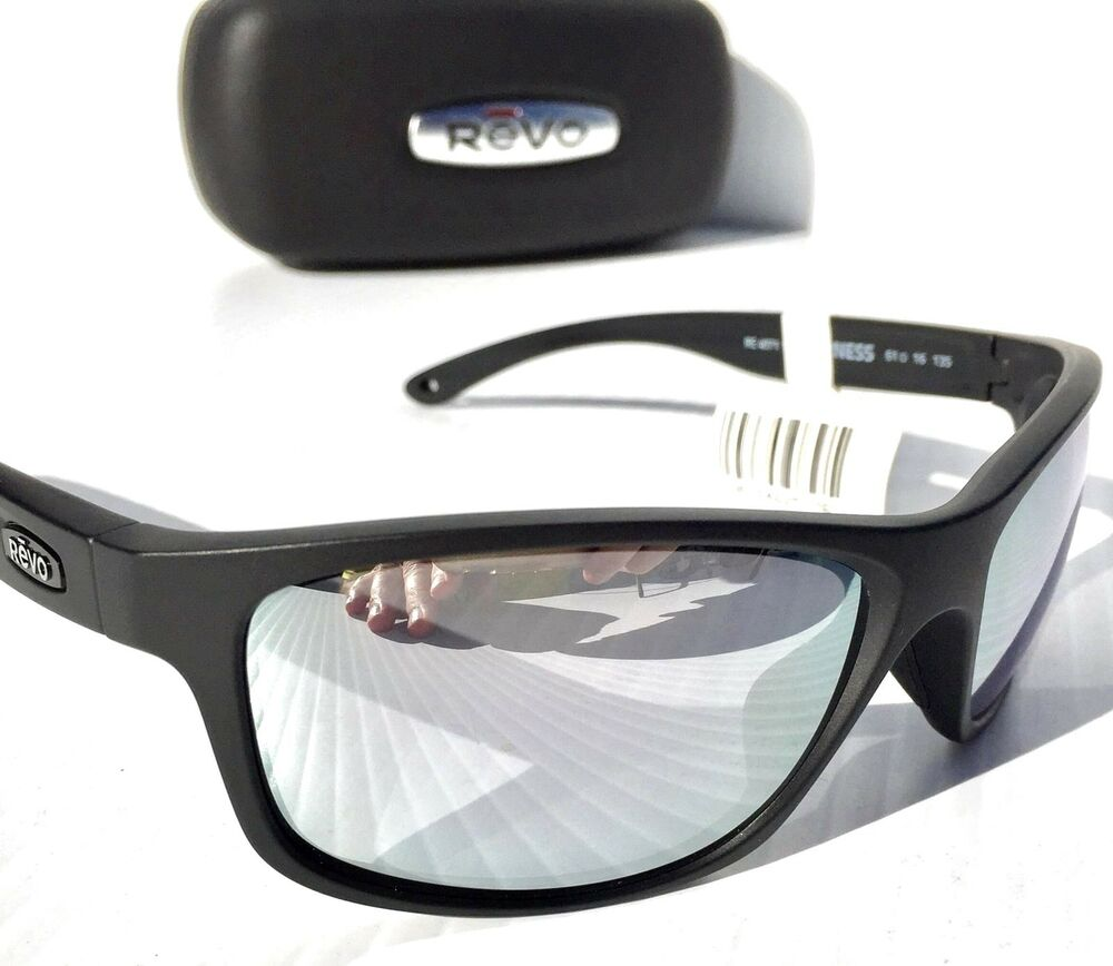 f26c6431222 NEW  REVO HARNESS Matte Black w POLARIZED Mirror Lens Sunglass 4071 11 ST  796764625176