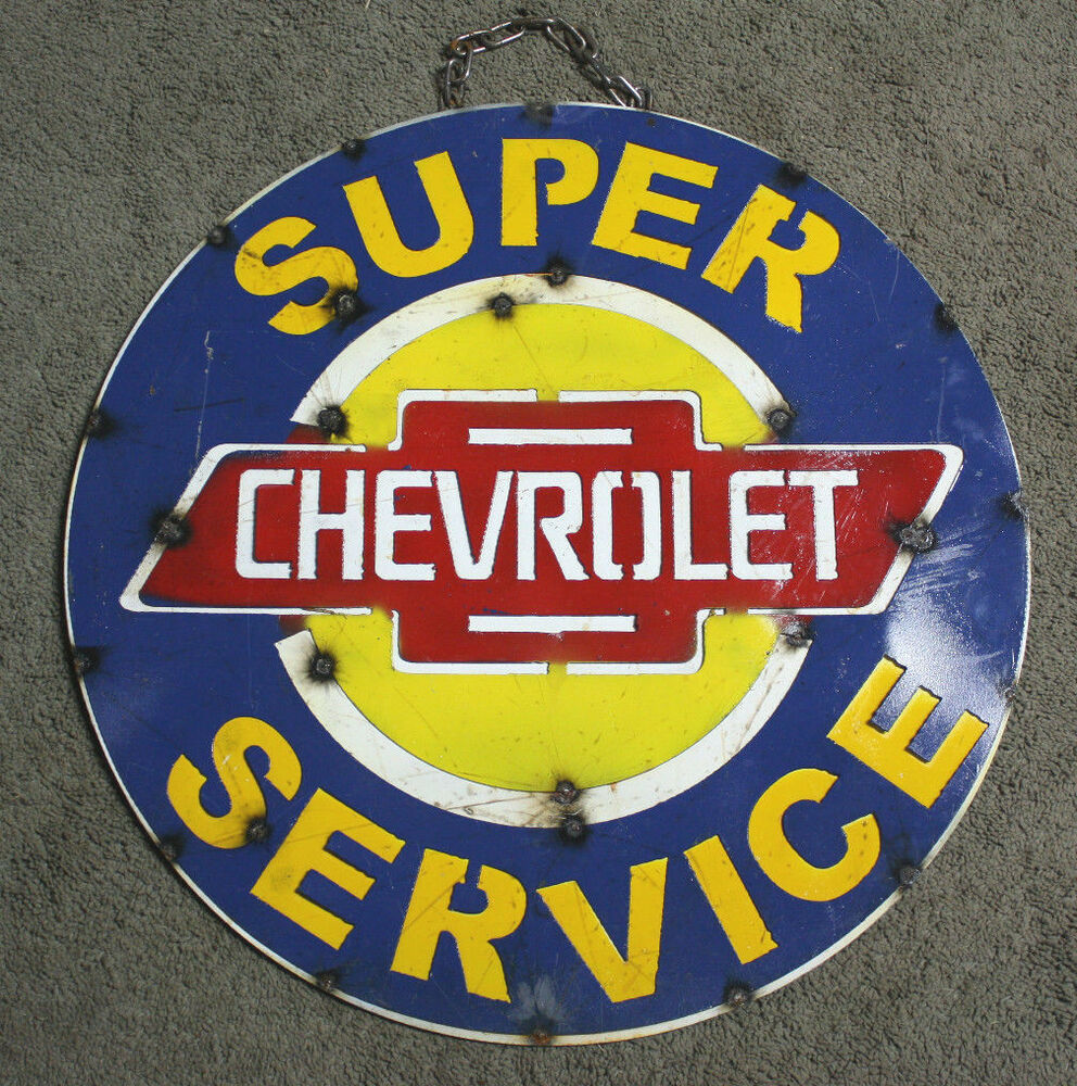 Chevy Man Cave Decor : Metal chevy bow tie sign gas oil garage man cave home