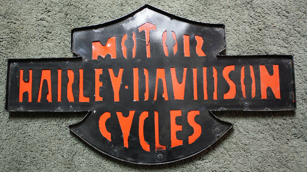 Harley Davidson Man Cave Accessories : Tin metal harley davidson sign gas oil garage man cave