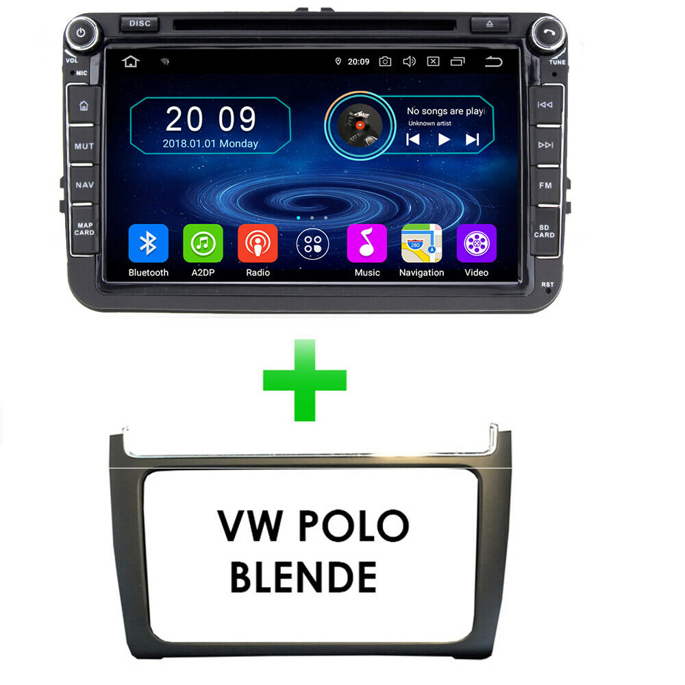 volkswagen polo 6c 6r android 7 1 autoradio touchscreen. Black Bedroom Furniture Sets. Home Design Ideas