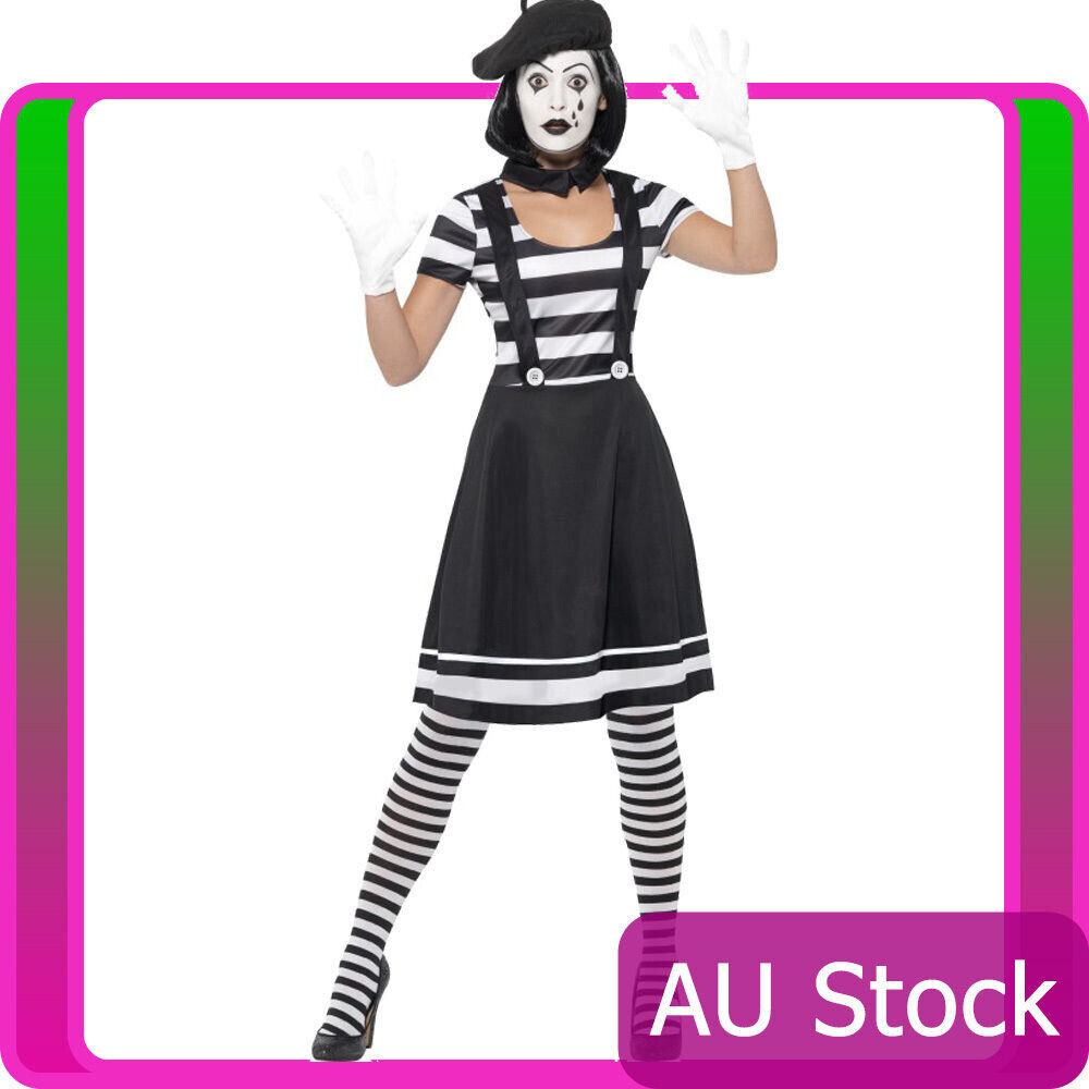 French Mime Costume Diy: Ladies Mesmerizing Mime Costume French Artist Clown Circus