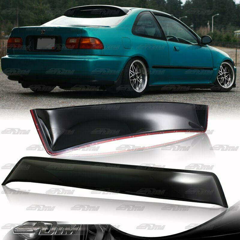 For 1992 1995 honda civic ex dx 2 door abs rear roof for 2000 honda civic rear window visor