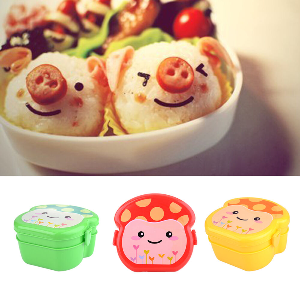 cute mushroom plastic lunch box bento lunch box set lunch. Black Bedroom Furniture Sets. Home Design Ideas