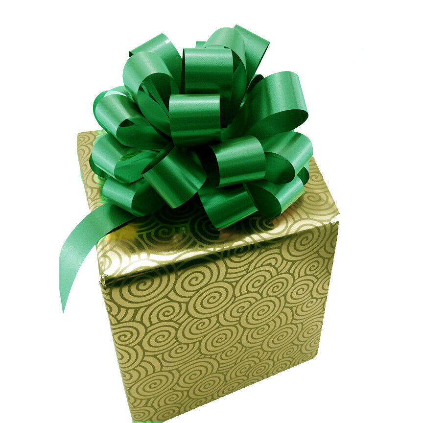 """6 Christmas Green Pull Bows 7.5""""-8"""" Wide Decorative Gift ..."""