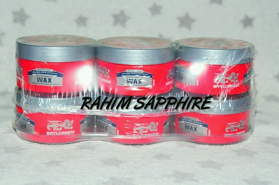 Brylcreem Hair Styles: 6X Brylcreem Wax 75ml Controlled Strong Hold Hair Styling