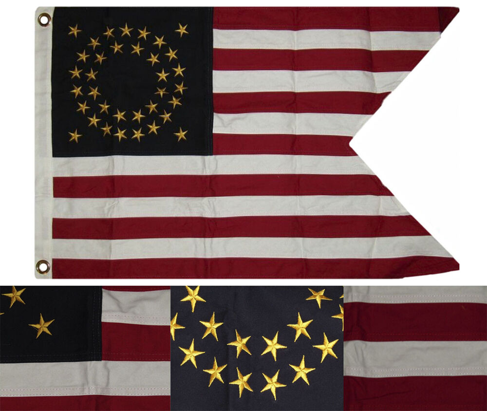 Cotton Union Cavalry Guidon 2x3 Ft Embroidered Flag Civil